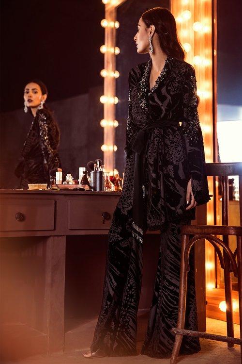 Products elan kamal beverly hills black plush madame black velvet beaded jacket pants boho elegant 1 1024x1024 2x